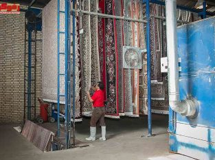قالیشویی در کرمان